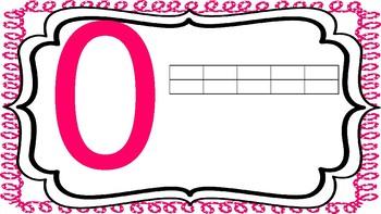 Paw Print Number Line