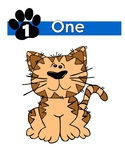 Paw Print Number Posters 0-20