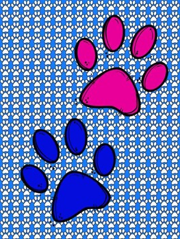 Paw Print Paper {Sweet Line Design Clipart}