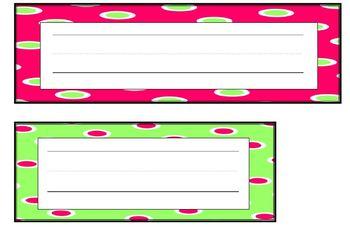 Paw Print & Polka Dot Word Wall Set