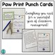 Paw Print Punch Cards (Positive Behavior Incentive Program)