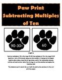 Paw Print Subtracting Multiples of Ten