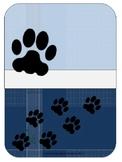 Paw Print Teacher Binder Set - Blue