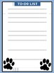 Paw Print Teacher Binder Set - Blue