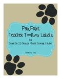 Paw Print Teacher ToolBox Labels