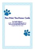 Paw Print Ten Frame Cards