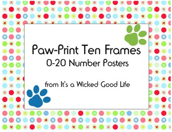 Paw-Print Ten Frame Number Posters