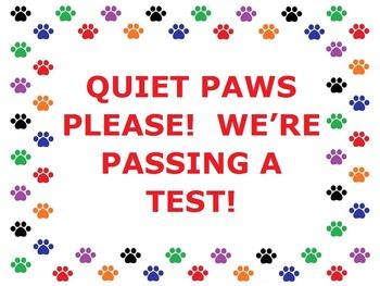 Paw Print Testing Poster