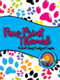 Paw Print Themed Pocket Chart Subject Schedule Cards & Calendar