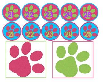 Paw Print Work Numbers