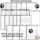Paw Print Writing Paper with 36 Paper and Line Spacing Choices
