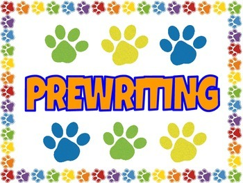 Paw Print Writing Process Posters