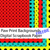Paw Print digital paper