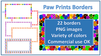 Paw Prints Borders