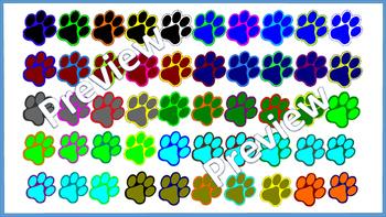 Paw Prints Clip Art-120 Images