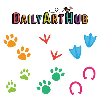 Paw Prints Art Clip Art - Great for Art Class Projects!