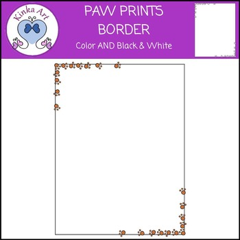 Paw Prints Border FREEBIE