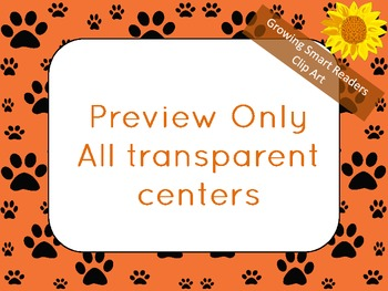 Paw Prints: Frames or Borders Clip Art