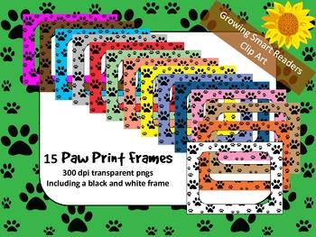 Paw Prints: Frames or Borders Clip Art