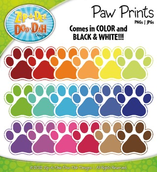 Rainbow Paw Prints {Zip-A-Dee-Doo-Dah Designs}