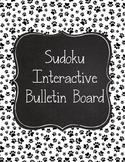 Paw Prints Sudoku Interactive Bulletin Board Dog Theme