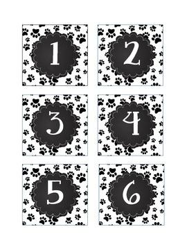 Paw Prints Sudoku Interactive Bulletin Board Dog Theme