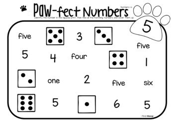 Paw-fect Numbers- Search and Cover Number Recognition