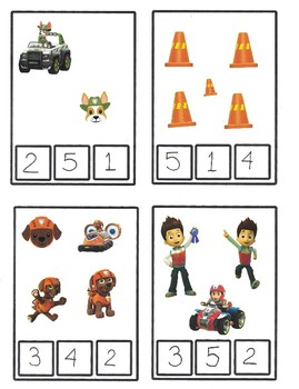 Paw patrol : number 1-5 and colors