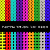 Paw print and Polka Dot Digital Backgrounds Digital Scrapb