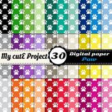 Paw prints 1 - DIGITAL PAPER - Instant Download - Scrapboo