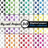 Paw prints 4 - DIGITAL PAPER - Instant Download - Scrapboo