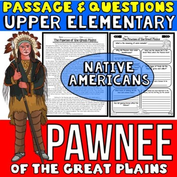 Native Americans Activity: Pawnee Passage with Questions