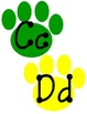 Pawprint Word Wall Letters