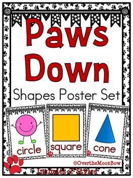 Paws Down | Black & White | Shapes Poster Set