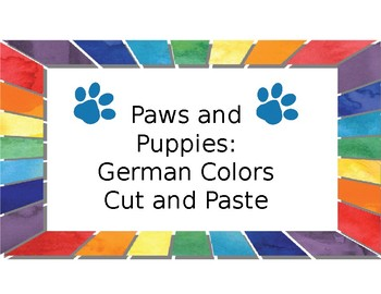 Paws and Puppies German Colors Cut and Paste
