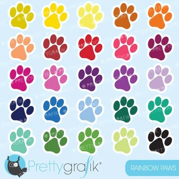Paws clipart commercial use, dog paws vector graphics -CL569