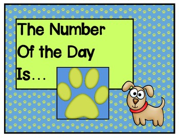 Paws for the Number Of The Day