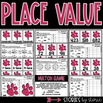 Place Value Game and Worksheets