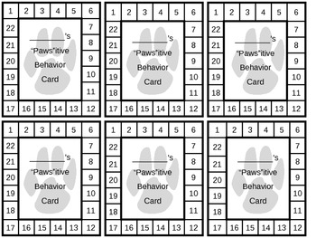 """""""Paws""""itive Behavior Cards"""