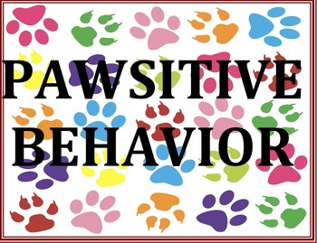Pawsitive Behavior Poster - Dog Paws