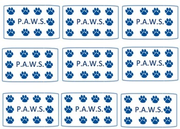 Pawsitive Behavior punch cards