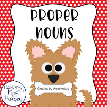 """Paw""sitively Perfect Proper Nouns: Mini-Book, Printables, & Games"