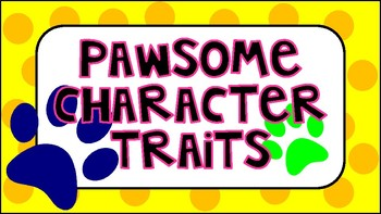Pawsome Character Traits Chart