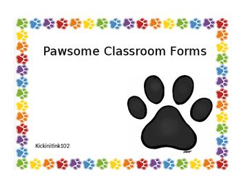 Pawsome Classroom Forms