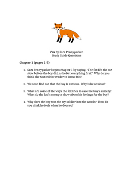 Pax by Sara Pennypacker Chapter 1 Reading Questions