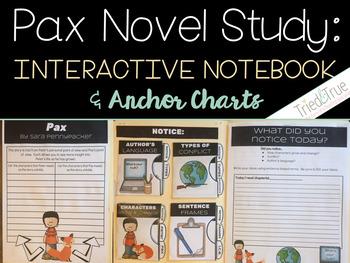 Pax ~ Interactive File Folder Novel Study