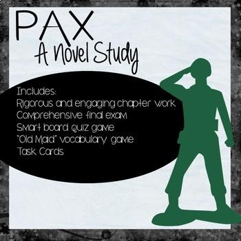 Pax Novel Study Bundle (Chapter Work, Assessment, Games, Vocabulary)