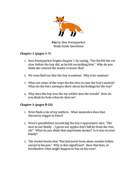 Pax by Sara Pennypacker Chapters 1-6 Reading Questions