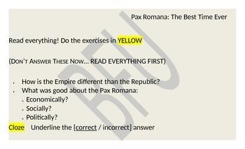 Pax Romana (Reading & Activity)