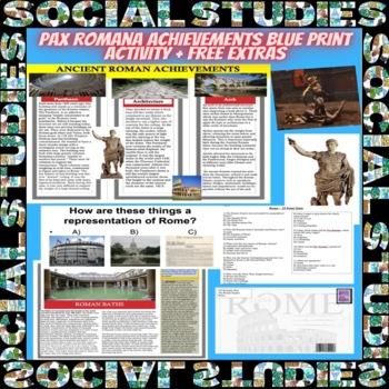 Pax Romana Achievements Blue Print Activity + Free Extras